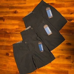 NWT Set of 3! Nautica Uniform shorts, Navy, size 6